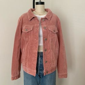 Brandy Melville pink Ribbed corduroy jacket new